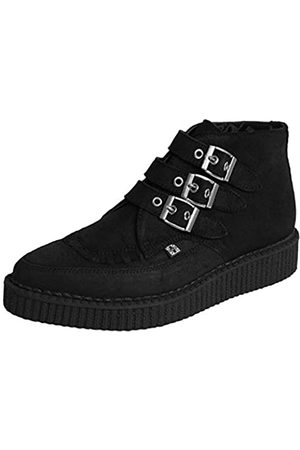 TUK T.U.K Womens Pointed Creeper Black Suede Boots 39 EU