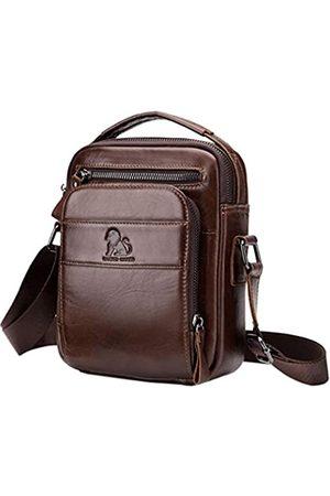 Hebetag Herren Umhängetaschen - Leder Schultertasche Messenger Bag Handtasche für Herren Reise Business Daypack