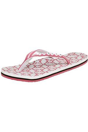 Cobian Damen Scrabble Flip Flop, Pink (Rose)