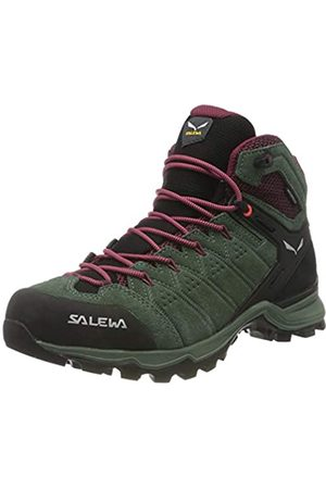 Salewa Damen WS Alp Mate Mid WP Trekking-& Wanderstiefel, Duck Green/Rhododendon