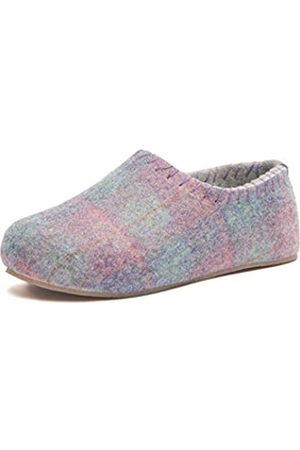 COMFORTFÜSSE Yew - Pr Printed Wool Arch Support House Slipper for Women (Purple 7-7.5 US) for Men (Purple 5-5.5 US) 38 EU