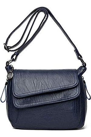 SYYHOME Damen Umhängetaschen - Umhängetasche für Damen, PU-Leder, Hobo-Schultertaschen, Reisetaschen, Handtaschen, mittelgroße Taschen, Blau (marineblau)
