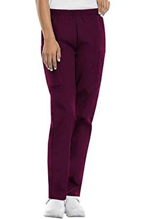 Cherokee Damen Cargohosen - Damen-Cargo-Peelinghose mit elastischer Taille - Rot - 3X-Groß