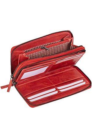 Mika 42175 - Damengeldbörse aus Echt Leder, Portemonnaie im Querformat, Geldbeutel mit 9 Kartenfächer, 2 Scheinfächer und Münzfach mit Reißverschluss, Brieftasche in, ca. 19,5 x 10