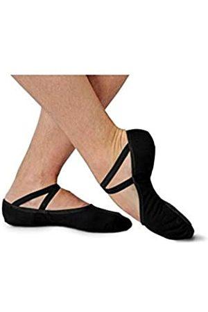 SANSHA Damen-Ballettschuhe, Geteilte Ledersohle, weich, G1c Handschuh, flach