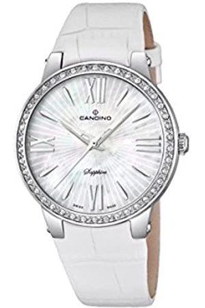 Candino Damen Analog Quarz Uhr mit Leder Armband C4597/1