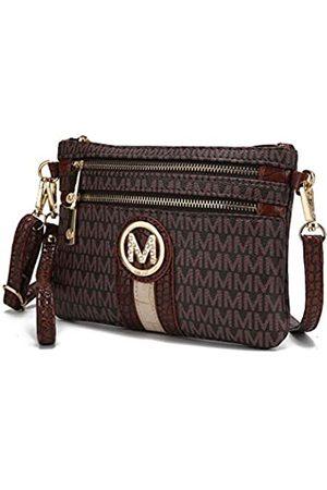 MKF Collection Damen Umhängetaschen - MKF Umhängetasche für Damen – abnehmbarer verstellbarer Riemen – kleine Handtasche aus PU-Leder, (Brown Tarren)