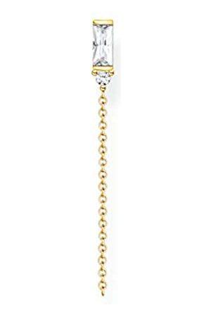 Thomas Sabo H2183-414-14 Charm Club Ohrring weißer Stein 925 Sterlingsilber, vergoldet, Gelbgold