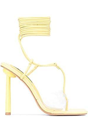 Cape Robbin Holi Sexy High Heels für Damen, Riemchenschuhe mit quadratischem offenen Zehenbereich