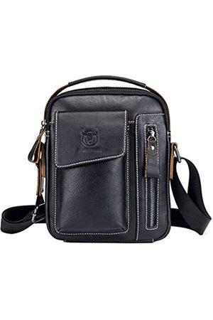 Hebetag Leder Schultertasche Messenger Bag Handtasche für Herren Reise Business Daypack - BL1128