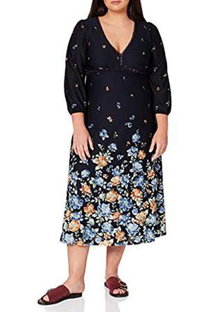 Springfield Damen Vestido Midi Flor Degradada Kleid
