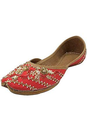 Step N Style Indischer Juti Damen-Designer Punjabi Jutti Ethnische Mojari, handgefertigt, ethnisch