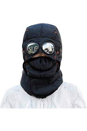 CM C&M WODRO Unisex Warme wasserdichte Trappermütze Ohrenklappen Thermo Halswärmer Damen Herren Wintermütze mit Brille - - Einheitsgröße