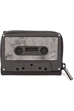Fydelity Kassettenband-Geldbörse, klassische Kassetten-Geldbörse, Münzetui, Retro, Schwarz (Schwarze matte Staubpistole)