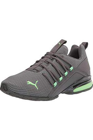 PUMA Men's Axelion Running Shoe, Castlerock-Elektro Green