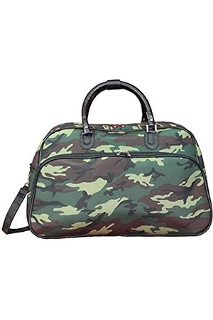 "World Traveler Damen 21"" Carry-on Shoulder Tote Duffel Bag-Green Camouflage Sportsack"