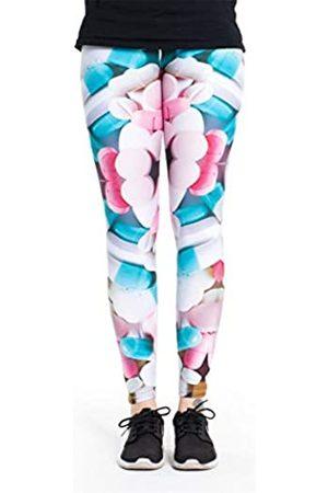 cosey Damen bunte bedruckte Leggings, Einheitsgröße