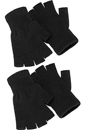 SATINIOR 2 Paar Unisex Halbe Fingerhandschuhe Winter stretchy Stricken Fingerlose Handschuhe in Gemeinsamen Größe