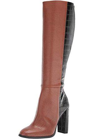 Calvin Klein Damen KERIE Kniehohe Stiefel, Dark Cuoio/Black