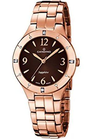 Candino Damen Analog Quarz Uhr mit Edelstahl beschichtet Armband C4573/2