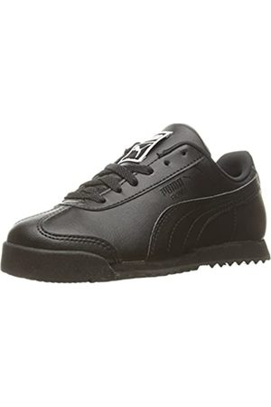 PUMA Boys' Roma Basic PS-K Sneaker, Black/ Black