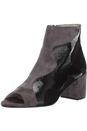 Amalfi by Rangoni Damen CATERINA modischer Stiefel, Black Crack Pull/Black Cashmere/Anthricite Cashmere