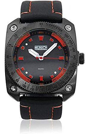 Munich Unisex Erwachsene Analog Quarz Uhr mit Gummi Armband MU+121.1A