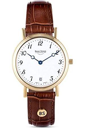 Soehnle Bruno Söhnle Damen Analog Quarz Uhr mit Leder Armband 17-33110-920