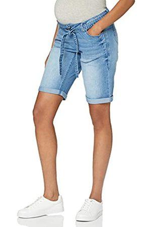 Mama Licious Damen MLNATAL Comfy Denim Shorts A, Light Blue