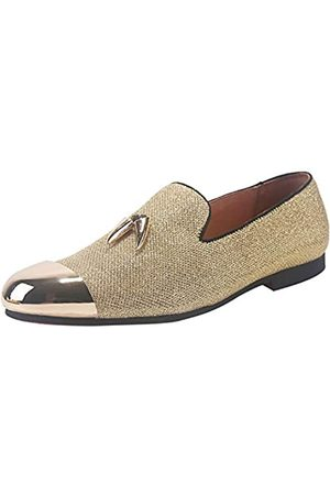 ELANROMAN Herren Loafers Leder Quaste & Cap Toe Schnalle Penny Party Hochzeit Abschlussball Schuhe
