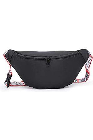 CHUANG XIANG Schwarze Gürteltasche – Allzweck / leichte holografische Hüfttasche für Männer und Frauen