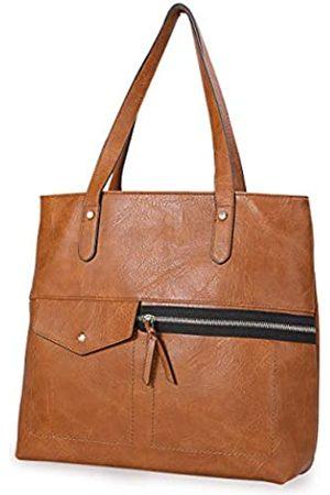 IDAILU Handtasche für Damen, groß, weiches PU-Leder, Schultertasche, Reisetasche, Shopper, Geldbörse mit Reißverschluss und Taschen