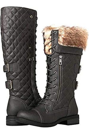 GLOBALWIN Damen Kniehohe Combat Boots
