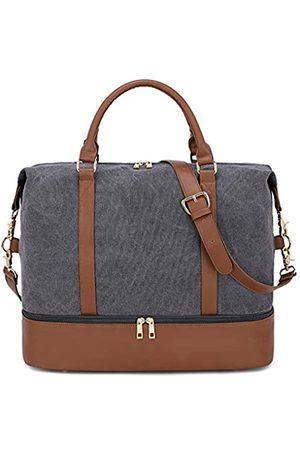 BLUBOON Damen Reisetaschen - Damen-Handgepäcktasche mit Schuhfach, Segeltuch