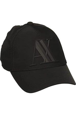 Armani Herren Rubber Logo AX Baseball Cap, (Nero-Black 00020)