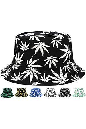 INOGIH Wendbarer Fischerhut, Marihuana-Cannabis-Weed, faltbarer Fischerhut