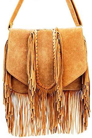 AryanExports Damen Umhängetaschen - Leder Schultertasche Schultertasche Schultertasche Pelz Sling Bags Damen Einkaufstasche Ledertaschen Casual 12 Zoll Tote Bags Handtaschen Stilvolle Taschen Geschenk für Damen