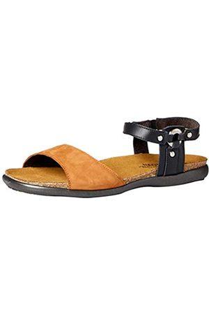 Naot Damen Sandalen - Footwear Damen Sabrina Sandalen, (Jet Black Lthr/Hawaiian Brown Nubuk)