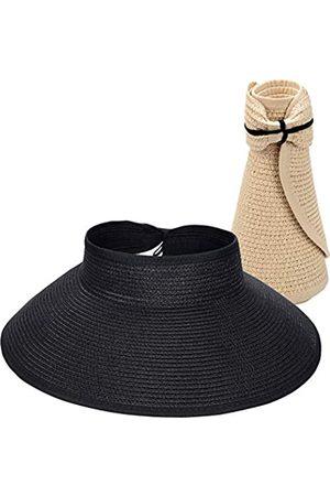 Maylisacc Faltbare Stroh-Sonnenblenden für Frauen, Sonnenschutz, breite Krempe, Sonnenhüte