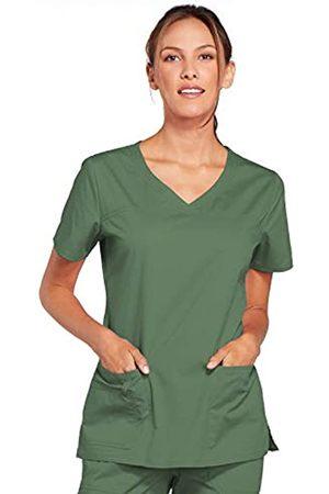 Cherokee Damen Workwear Core Stretch V-Ausschnitt Scrubs Shirt - Grün - X-Groß