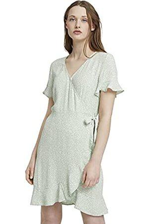 TOM TAILOR Damen 1025704 Feminine Kleid, 26826-Green Flower Print