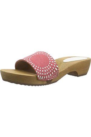 Sanita Damen Dine Round Flex Sandal Pantoletten, (Coral 48)