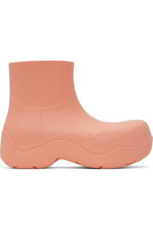 Bottega Veneta Pink Puddle Ankle Boots