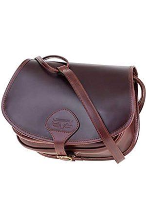 Mika 28059102 - Damentasche Allison aus Echt Leder/Sattelleder, Damen Handtasche mit Hauptfach und Vortasche, Ledertasche für Frauen, Umhängetasche in