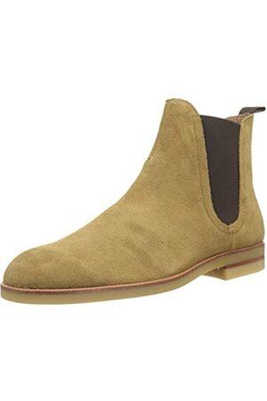 H by Hudson Herren Adlington Suede Chelsea Boots, (Camel 34)