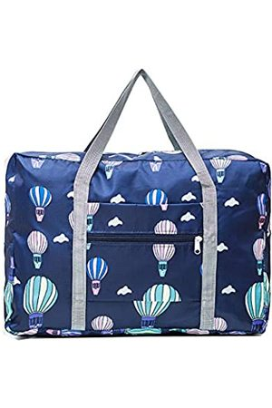 Unova Travel Duffel Bag Packable Light Nylon Water Resistant Gym Tote Weekend Overnight Carry-on Shoulder Shopping(Air Balloon)