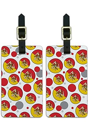 Graphics and More Graphics & More O-s-Sicily Nationalflagge - Luggage.Tags.09760