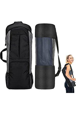 VXTRRI Herren Sporttaschen - Yoga-Rucksack, Yogamatten-Halter, Turnbeutel, passend für 1,27 cm dicke Yogamatte, große Tasche und Wasserflaschentasche, durchgehender Reißverschluss, für Damen und Herren, Sport, Fitness, Reisen, Klettern