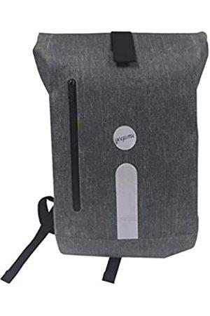 yeep.me B.140 Rucksack 100% wasserdicht meliert 500 Denier mit reflektierendem Band + abnehmbare Laptoptasche 38