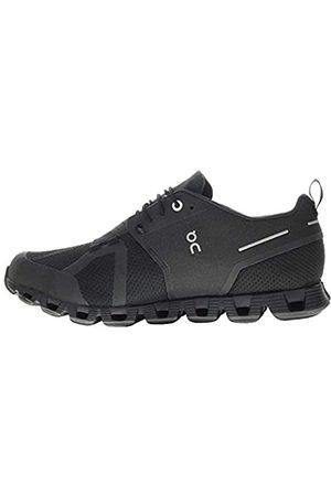 On Running Herren-Sneakers Cloud wasserdichtes Textil, Synthetik, (Black Lunar)